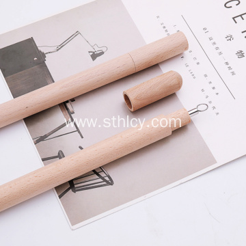 Eco-friendly Stainless Steel Straws with Wood Tube Case