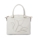 Grain Leather Ladies Tote Bags With Large Space