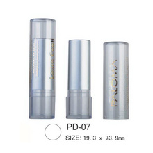 Cylindrical Plastic Lip Balm Container Lipstick Tube