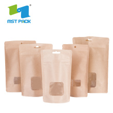 Brown Craft Paper Coffee Packaging Bag Corn Biodegradable
