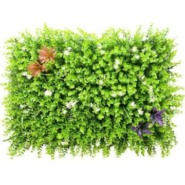Anti-UV artificial boxwood carpet mat panel wall