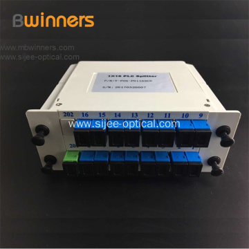 1X16 Fiber Optic PLC Splitter ABS Module With SC/APC Connector‎