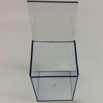 Plastic simple square transparent storage box
