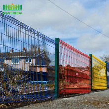 High strength square wire mesh fence avenue safety fencing roll top fence