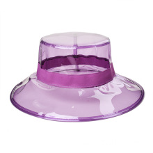 Premium transparent plastic pvc bucket hat