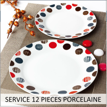Cheap decal 16pcs dinnerware set