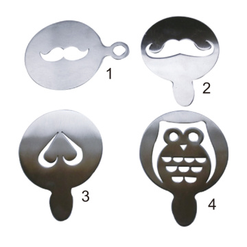 Stainless Steel Coffee Stencil Various Shapes