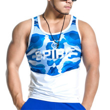 China Factories for Mens Singlets 95% cotton 5% spandex mens gym tank top singlet export to Oman Factories