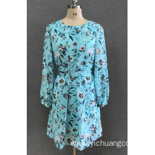 women's print ciffon dress
