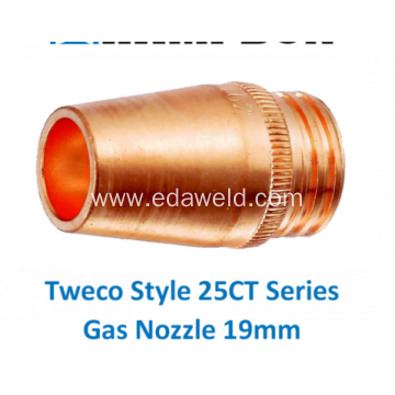 25CT75 Tweco Gas Nozzle