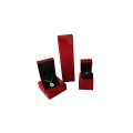 Red Velvet Plastic Jewelry Box Set