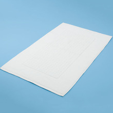 Hotel Cotton Large Bath Mat in White Color