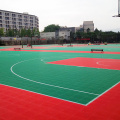 Outdoor basketball court floor