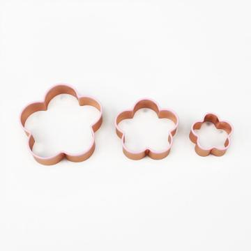 3 pcs flower shape cookie cutter set