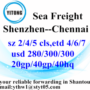 Shenzhen International Logistics Services to Chennai