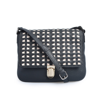 Fashion Handbag Top Grian Woman Flap CrossBody Bags