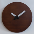 Brown Wall Clock With Light