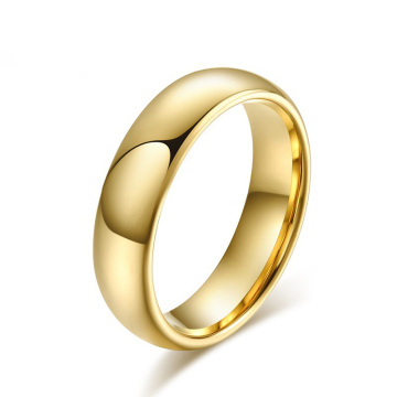 6mm gold plated tungsten carbide ring