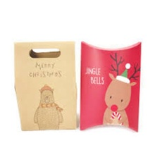 Customized Christmas Paper Bags Peanuts Boxes Apple Gift