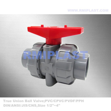 Double Union CPVC Ball Valve PN10