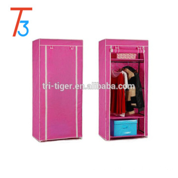 Fabric single folding sliding door cloth wardrobe