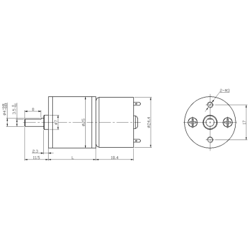 25mm spur geared motor low noise high rpm