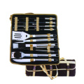 18pcs stainless steel bbq set with nylon bag