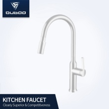 White Color Kitchen Sink Pull Down Sprayer Faucet
