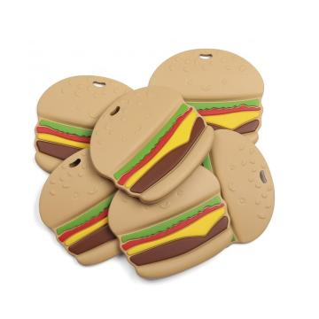 Hamburger Baby Chew Silicone Teether