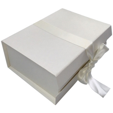 Luxury Custom Rigid Cardboard Box with Ribbon