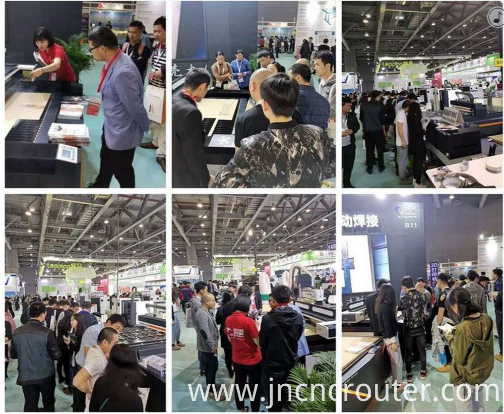 fiber laser cutting machine on guangzhou de pes fair