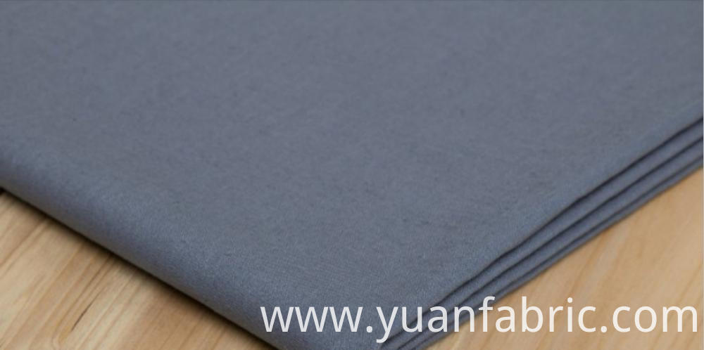 142textile Cotton Polyester Blend Woven Dyed Shirting Fabric