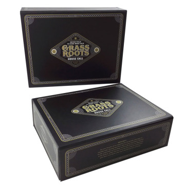 Custom Black Paper Magnetic Box