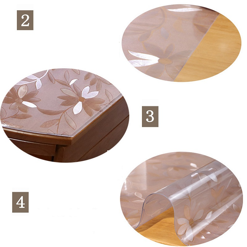 Clear Soft Pvc Thick Clear Plastic Table Cloth