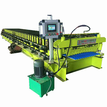 Metal customized corrugated double roll forming machine