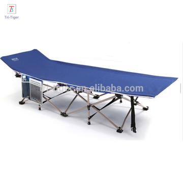 Foldable steel folding army cot 600D oxford material folding bed