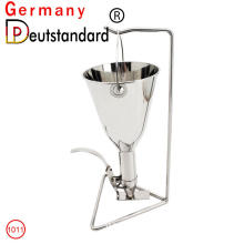 Waffle machine tool stainless steel funnel