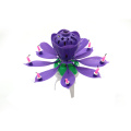Fireworks flower shaped birthday candle