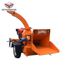 High Efficiency Factory for Diesel Engine Wood Chipper Mobile forest use wood shredder for branches export to Rwanda Wholesale
