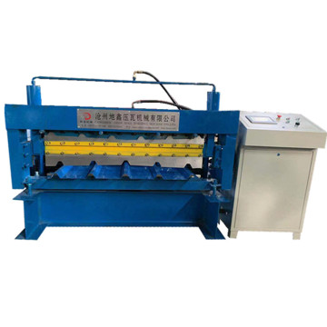 Colorful aluminium tile double layer forming machine