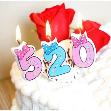 Hot sale paraffin wax number birthday candle for children