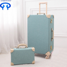 Factory directly for Offer PU Luggage Set, PU Luggage Sets, PU Luggage Bags from China Manufacturer Vintage luggage a 24-inch suitcase export to Israel Manufacturer