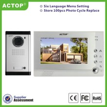 Memory video door intercom system for home