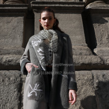 Kopenhagen Lady Mink Fur Overcoat In Winter
