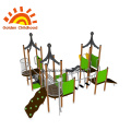 Green Outdoor Playground Junior Multiplay Tower