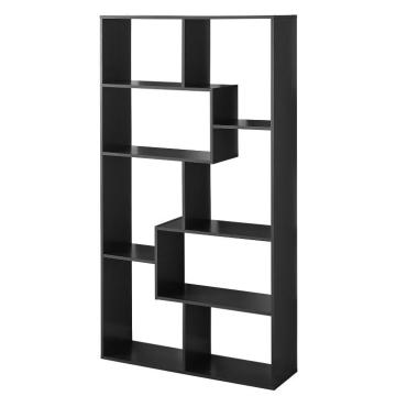Special for Solid Wood Bookcases Modern Design Narrow Large Black Open Bookshelf supply to United States Supplier