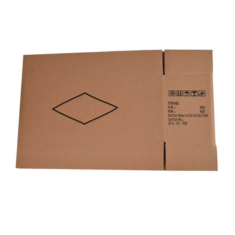 Three-layer logistics cartons