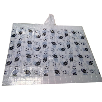Disposable full printed rain poncho with customized logo