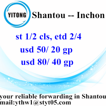Shantou to Inchon shipping forwarder