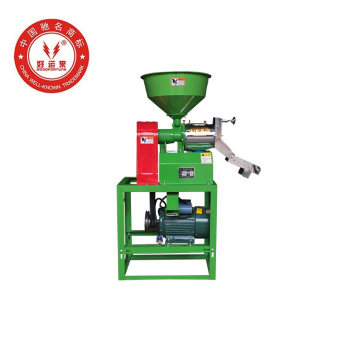 Home use small scale paddy pounder rice polishing machine
